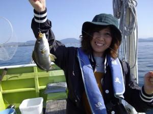 みんな仲良くイサギ釣り~(*´∀`*)3