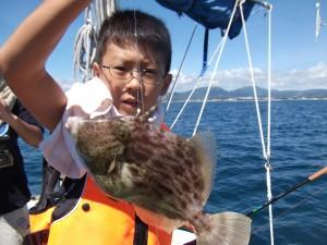 田辺湾でボートフィッシング カンパチ釣れた(*´∀`*)2