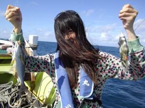 みんなで仲良く船釣り体験♫2