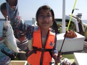 パパ ママ魚釣りたのしかったよ(*´∀`*)2