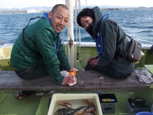 初めての船釣りたのしかった~1