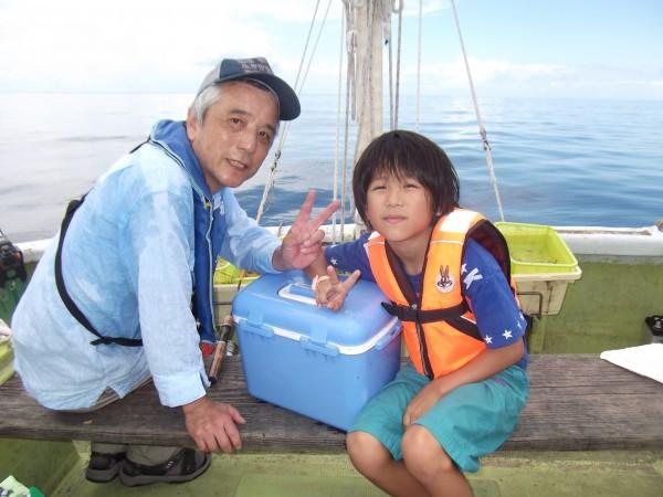 お爺ちゃんと一緒に船釣り楽しかった(*´∀`*)1