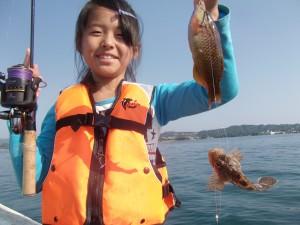パパ ママ魚釣りたのしかったよ(*´∀`*)3