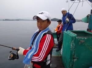 初めての船釣りでしたがとても楽しい体験ができました(*´∀`*)3