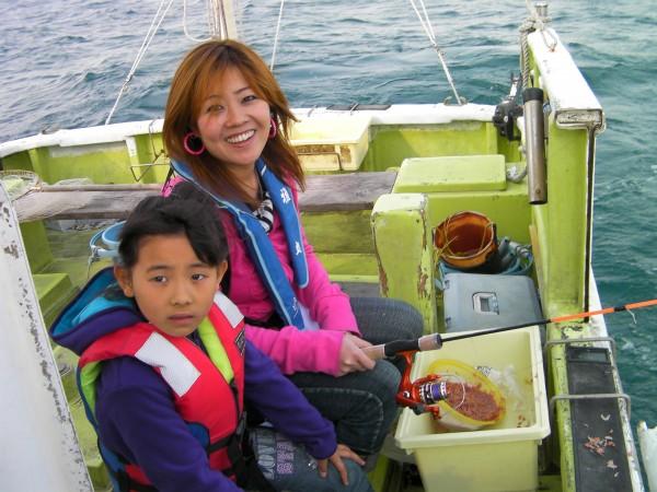 娘と一緒に魚釣り!1